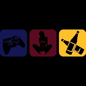 Drei Hobbys in farbe auf dein T-Shirt