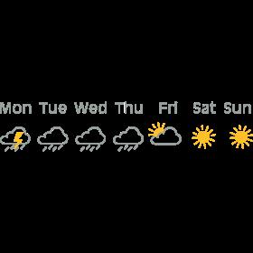 nice weekend weather auf dein T-Shirt