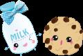 Motif Lait et cookie