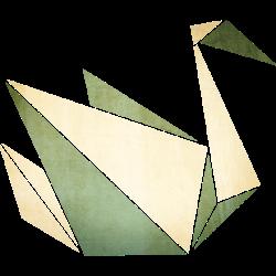 Origami: stolzer Schwan (Pergament-Optik)