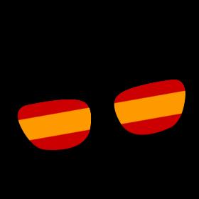 Spanien Brille auf dein T-Shirt