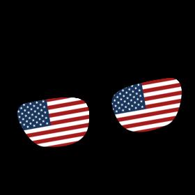 USA Brille auf dein T-Shirt