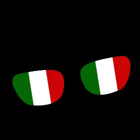 Italien Brille auf dein T-Shirt