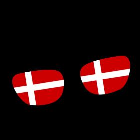 Dänemark Brille auf dein T-Shirt