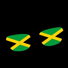 Jamaika Brille auf dein T-Shirt