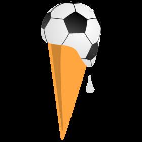 Fußball Waffeleis auf dein T-Shirt