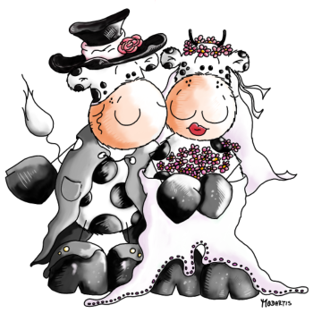T-Shirt Cow Wedding - Bride - bridegroom - cows<br />imprimer sur un tee shirt