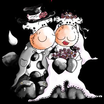T-Shirt Cow Wedding - Bride - bridegroom - cows<br />imprimer sur un tee shirt