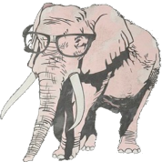 Elephant Wearing Glasses