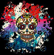 T-Shirt Crane, Sugar Skull, sucre, Mexique, fleurs,<br />imprimer sur un tee shirt