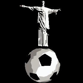 Jesus Rio Fußball auf dein T-Shirt