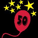 Motiv: 50-Luftballon