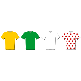 Tour de France Trikots auf dein T-Shirt
