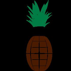 Ananas Handgranate auf dein T-Shirt