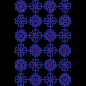 Retro Blumenmuster auf dein T-Shirt