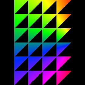 Regenbogendreiecke auf dein T-Shirt