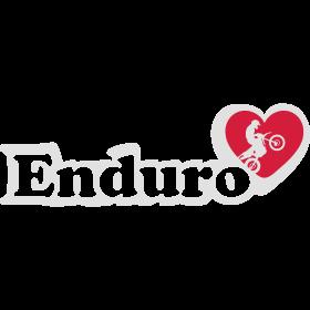 Ich liebe Enduro auf dein T-Shirt