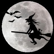 T-Shirt Halloween sorci�re avec un chat vole sur le ciel<br />imprimer sur un tee shirt