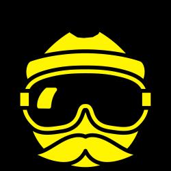 Apres-ski hipster dude met snor