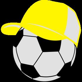Fußballbasecap auf dein T-Shirt
