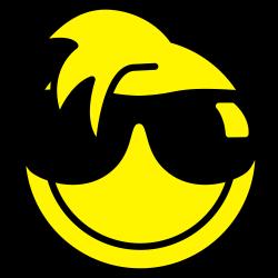Smiley met zonnebril