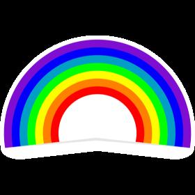 Bunter Regenbogen auf dein T-Shirt
