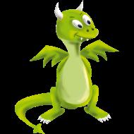 T-Shirt dragon vert<br />imprimer sur un tee shirt