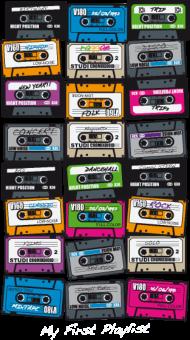 T-Shirt cassette vintage  play list<br />imprimer sur un tee shirt