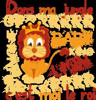 T-Shirt lion c est moi le roi<br />imprimer sur un tee shirt