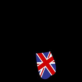 Union Jack Zunge auf dein T-Shirt