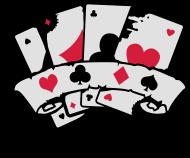 T-Shirt quatre cartes à jouer et une bannière<br />imprimer sur un tee shirt