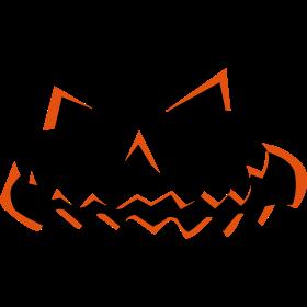 Halloween Kürbisgesicht auf dein T-Shirt