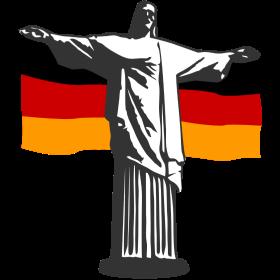 Deutschland Jesus in Rio auf dein T-Shirt