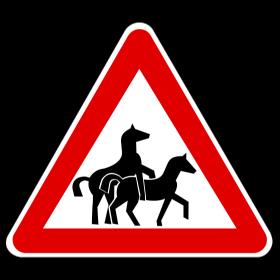 Achtung Pferdeverkehr auf dein T-Shirt