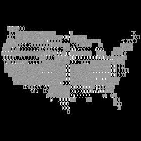 USA als Binärcode auf dein T-Shirt