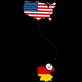 USA hört Deutschland mit Stethoskop ab  auf dein T-Shirt