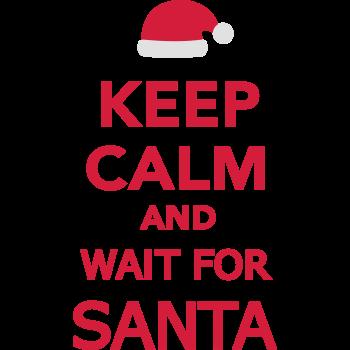 T-Shirt Keep calm and wait for Santa<br />imprimer sur un tee shirt