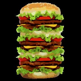 XXL Hamburger auf dein T-Shirt
