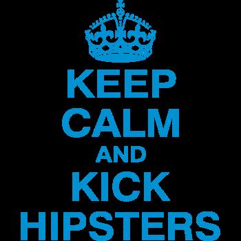 T-Shirt KEEP CALM and KICK HIPSTERS<br />imprimer sur un tee shirt