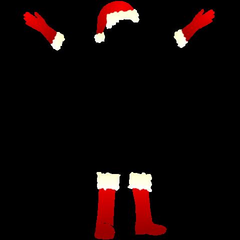 T-Shirt mit Weihnachtsmann im dunkeln