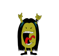 T-Shirt Monsieur heavy metal<br />imprimer sur un tee shirt