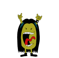 T-Shirt Madame heavy metal<br />imprimer sur un tee shirt