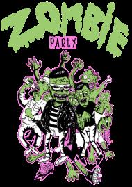 T-Shirt zombie party<br />imprimer sur un tee shirt