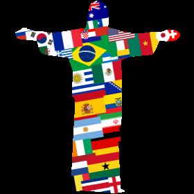 Brasilien 2014 Rio Jesus Nationen auf dein T-Shirt