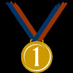 Goldmedaille für ersten Platz auf dein T-Shirt