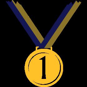 Goldmedaille für ersten Platz V auf dein T-Shirt