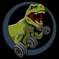 T-Shirt dinosaure muscles<br />imprimer sur un tee shirt