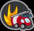 Motif camion pompier