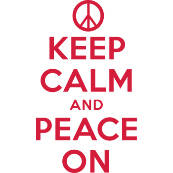 T-Shirt keep calm and peace on<br />imprimer sur un tee shirt
