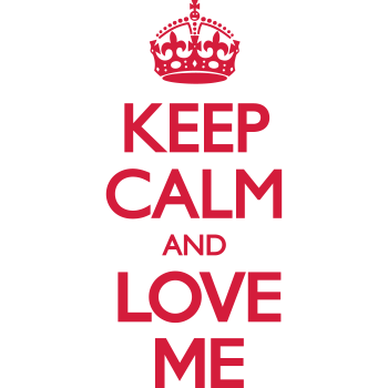T-Shirt Keep Calm and Love Me<br />imprimer sur un tee shirt